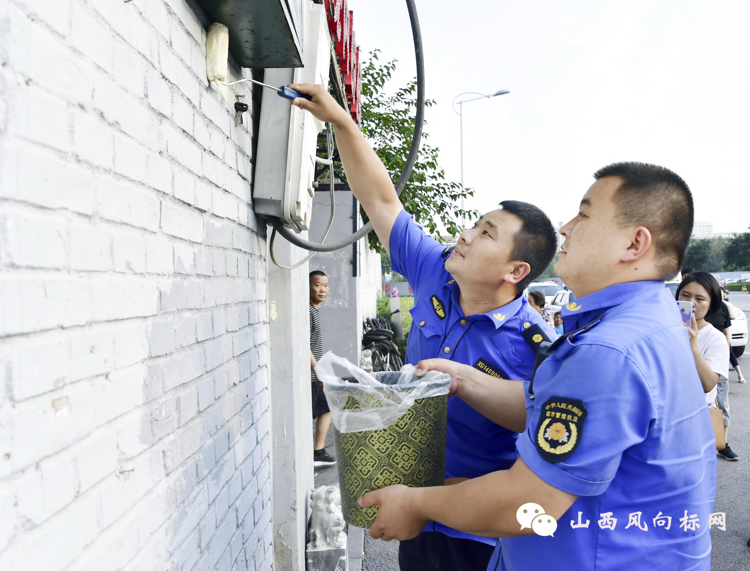 严厉打击!忻州警方抓获两名跨市流窜非法喷涂小广告违法嫌疑人