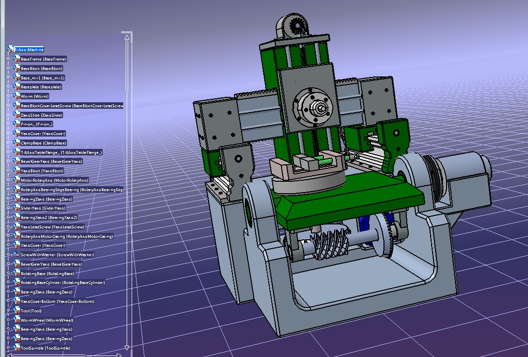 5轴加工平台核心结构3D图纸 STP格式