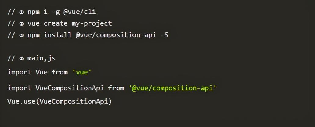 快速入手vue3.0新增常用API,起步上车