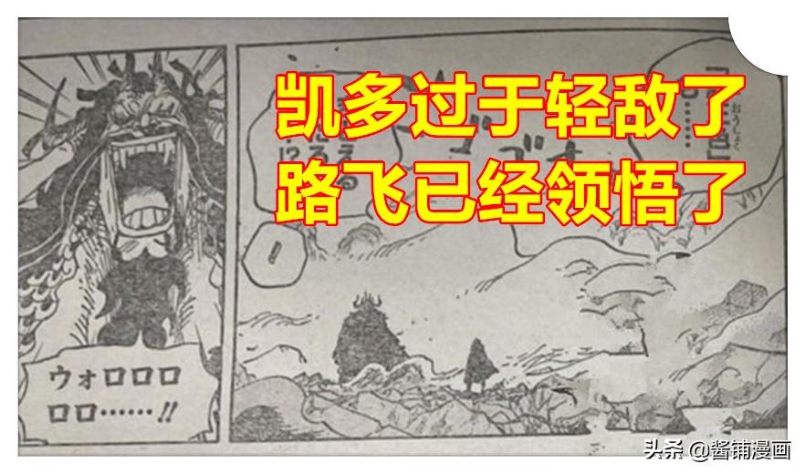 海賊王1010話,路飛會霸王色廬山升龍霸,暴揍凱多並超越四皇