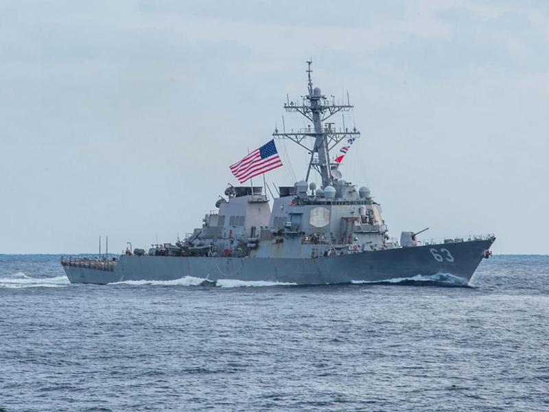 三架侦察机打掩护,美军舰昨日穿过台海,但行动全在我军掌握之中