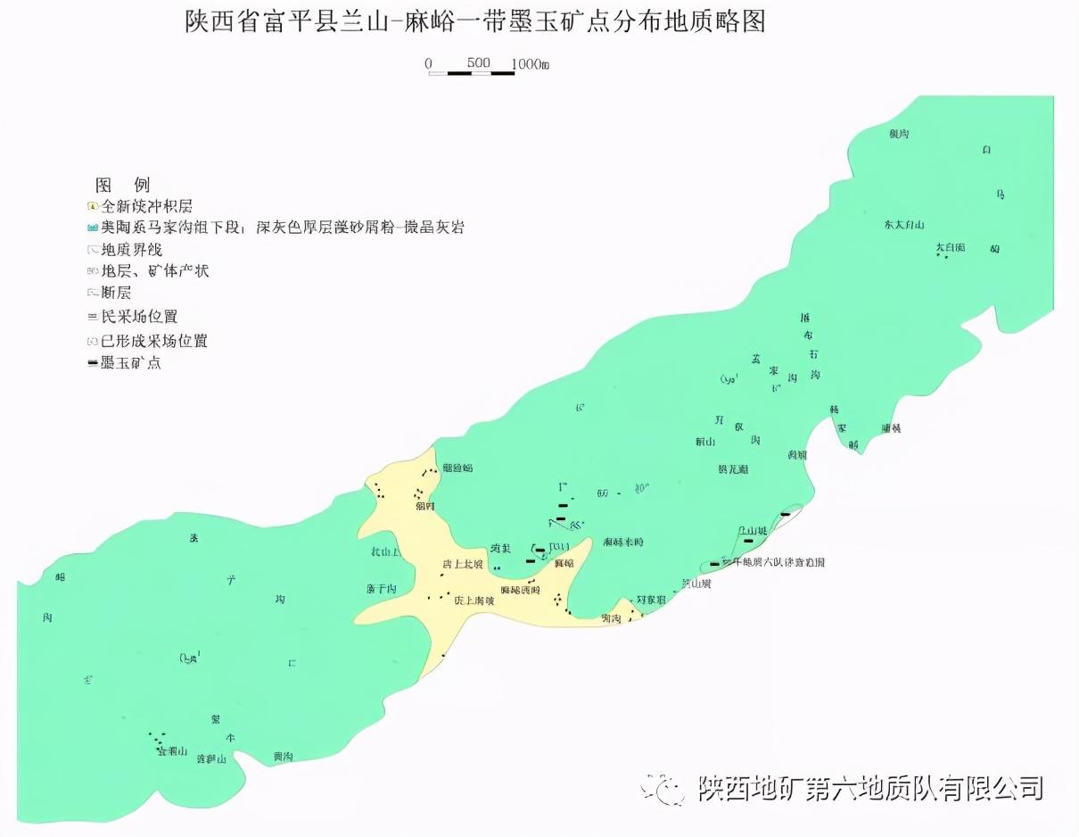 陕西渭南具备沉积型宝玉石矿产形成的地质条件,富平墨玉久负盛名
