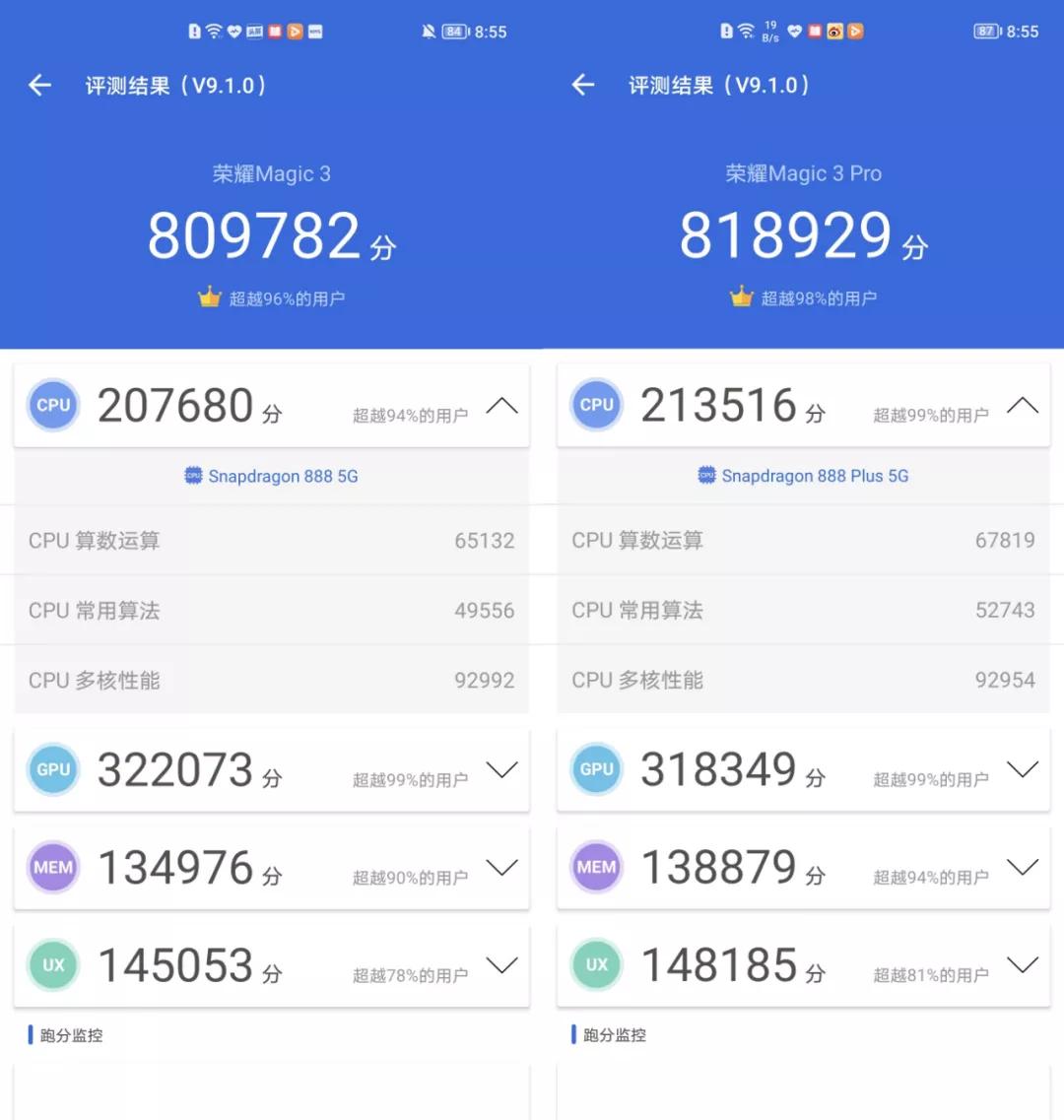 """荣耀Magic3系列性能测试:骁龙888+到底""""+""""在哪儿?"""