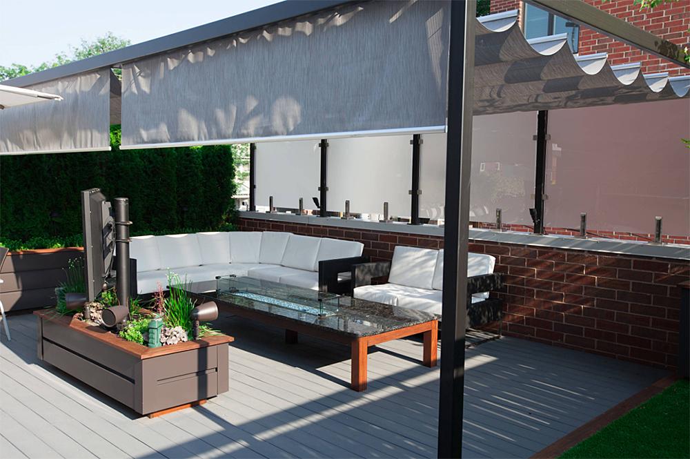 庭院设计:顶楼天台花园这么布置,夏天喝酒烤串看球聊天岂不快哉
