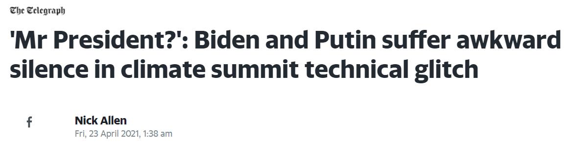 38国峰会上美方请普京发言:没人理,普京在玩手,麦克风静音了 原创星环视角2021-04-23 16:31:00 4月22日至23日,由美国总统拜登发起的领导人气候峰会以视频形式举办。包括中国、俄罗斯