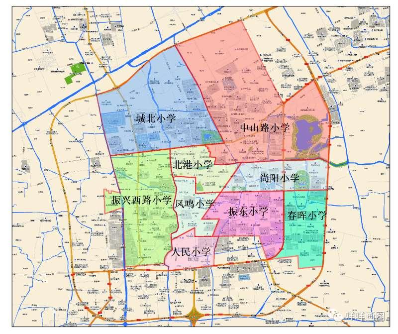 桐乡市学区地图(2020年)