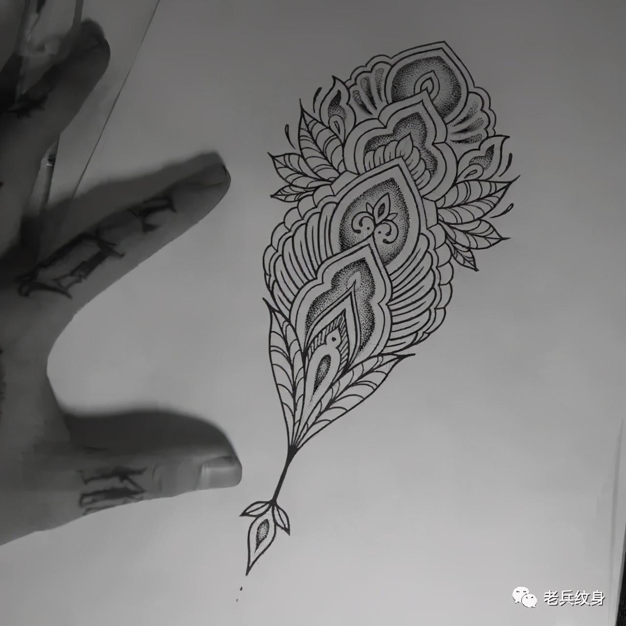 如果你纹身怕疼,那不妨试试点刺纹身呀