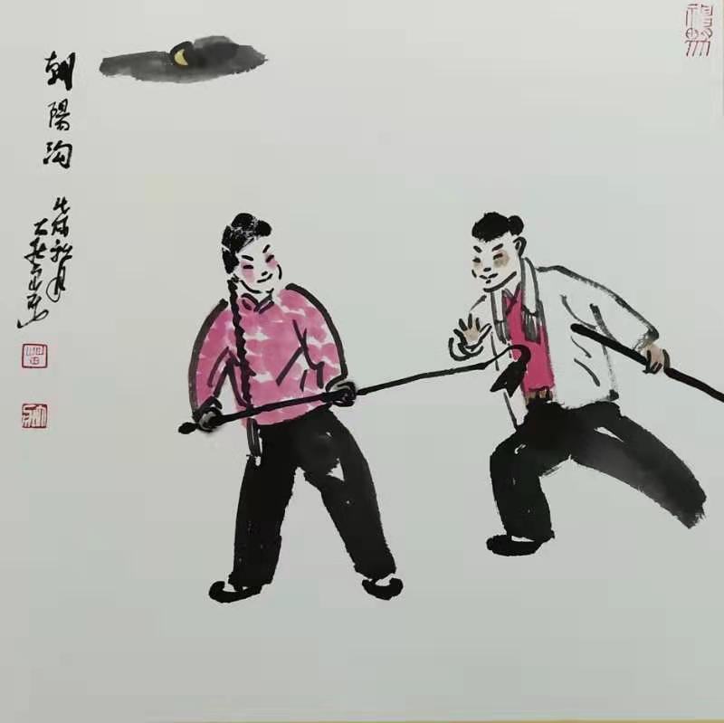 戏曲人物画家苗大壮2021迎春作品展