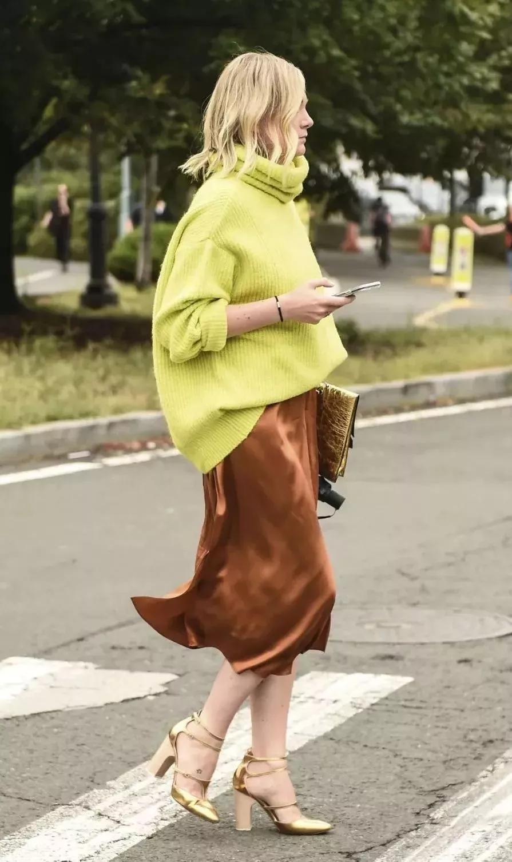 毛衣和半裙,秋冬最爱