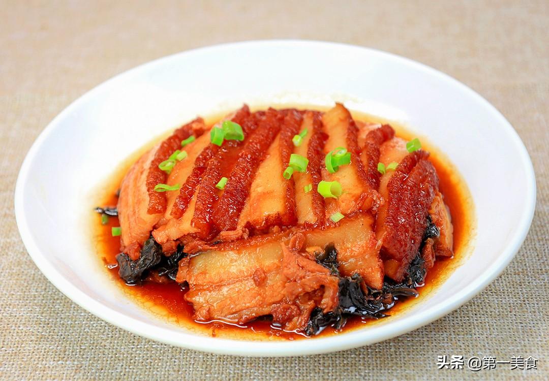 【梅菜扣肉】做法步骤图 原来先炸后腌很关键 厨师长教你做