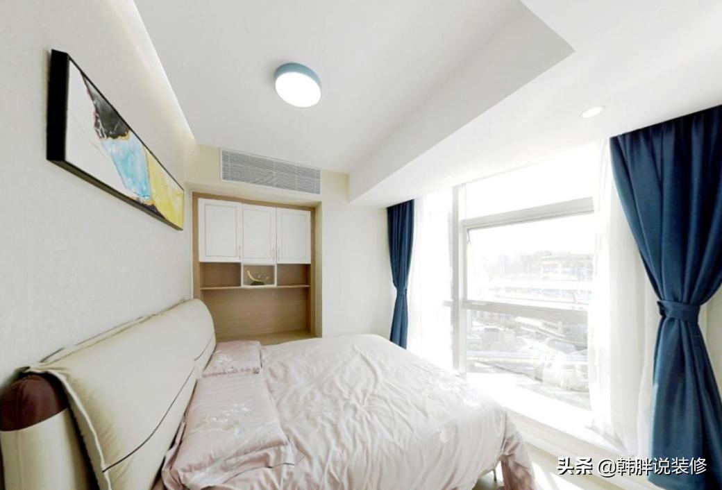 50㎡小蜗居,卧室故意抬高10cm装成地台,连床都不用买了