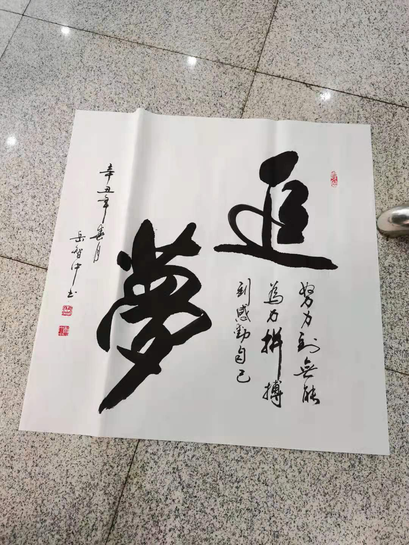 艺术人物     岳智中书法作品赏析