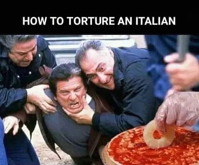 要惹毛一个意大利人,你就在披萨里放菠萝