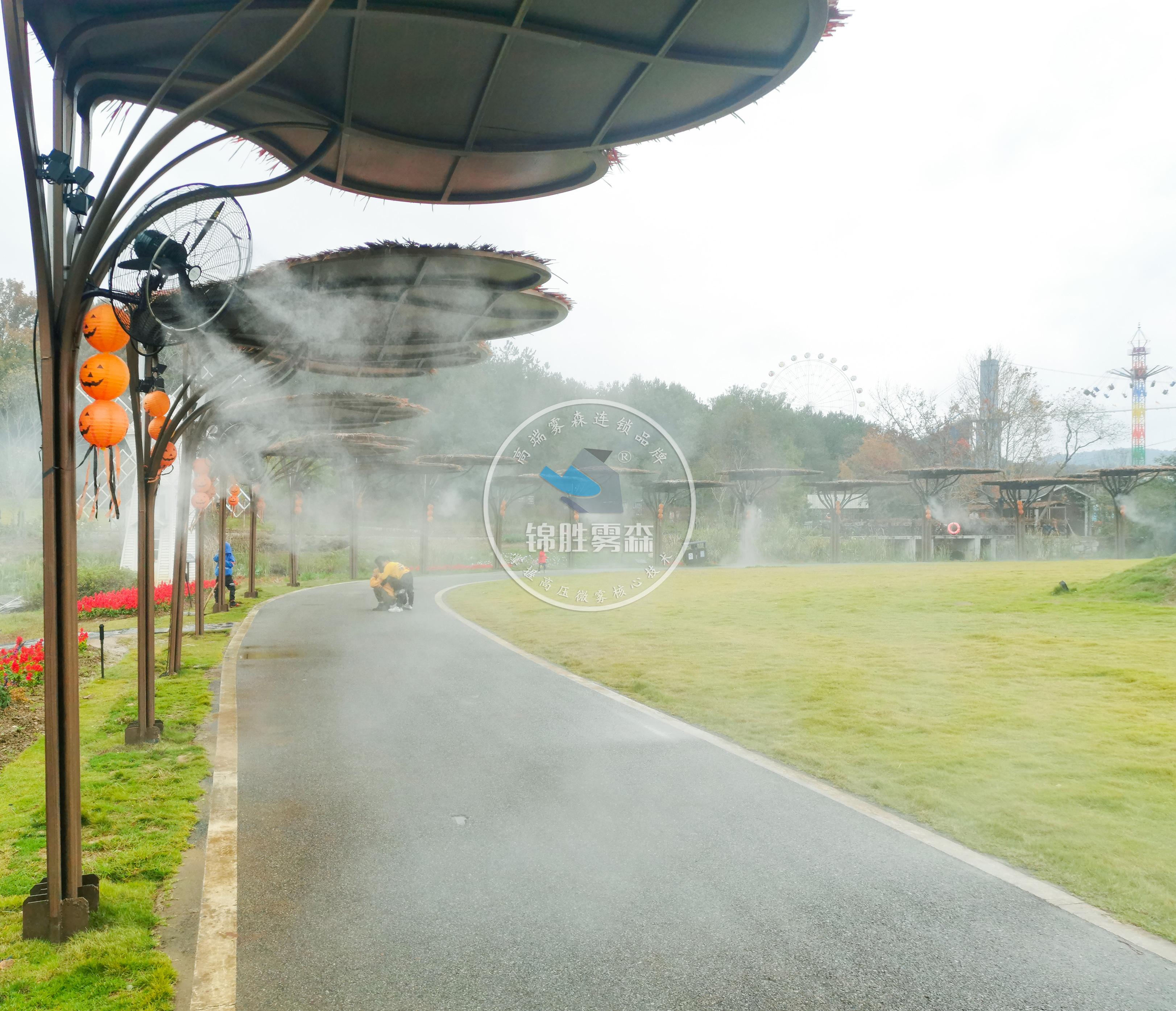 人造雾降温系统,夏季也清凉——锦胜雾森