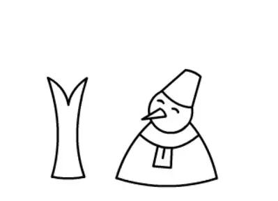 简单的雪人简笔画教程