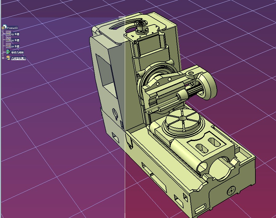 6-axis 6轴CNC机床核心结构3D图纸 STEP格式