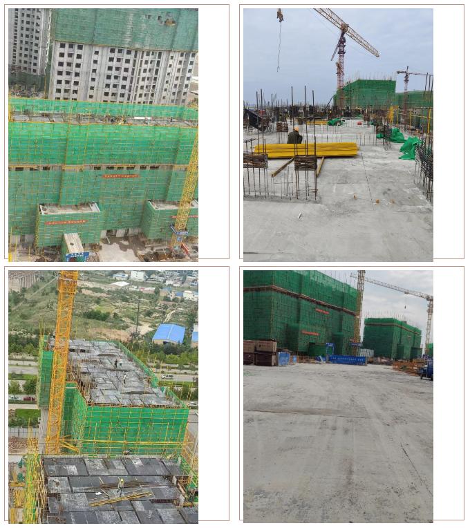 工程进度:8月份西建集团天茂房产运城开发项目工程进度