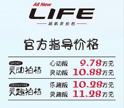 1.5L+CVT 本田LIFE 9.78万起,选飞度还是它?