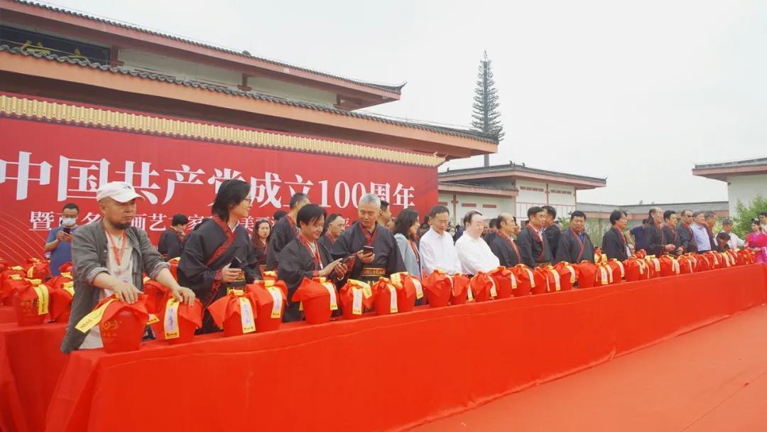 庆中国共产党成立100周年暨百名书画艺术家巧绘美丽河北走进广平