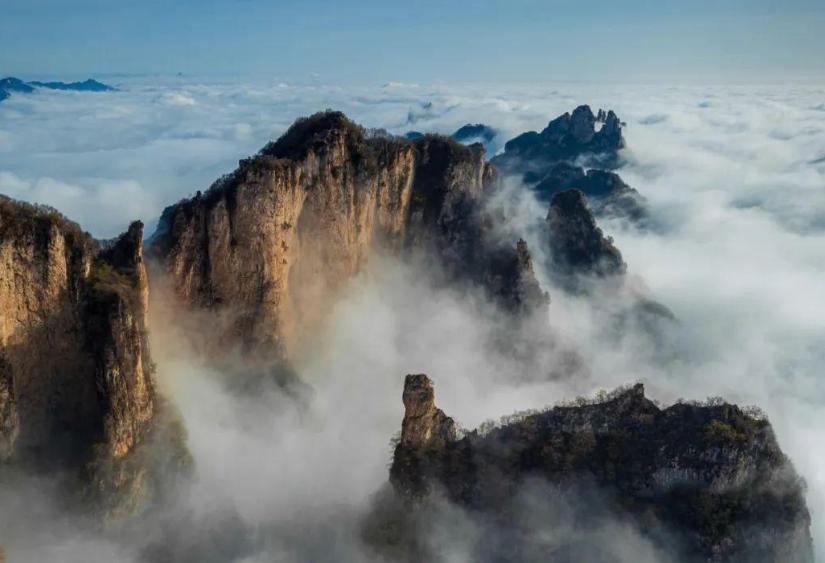 """山西绝美的""""太行至尊"""",奇景堪比黄山,是华北最大的生态景区"""
