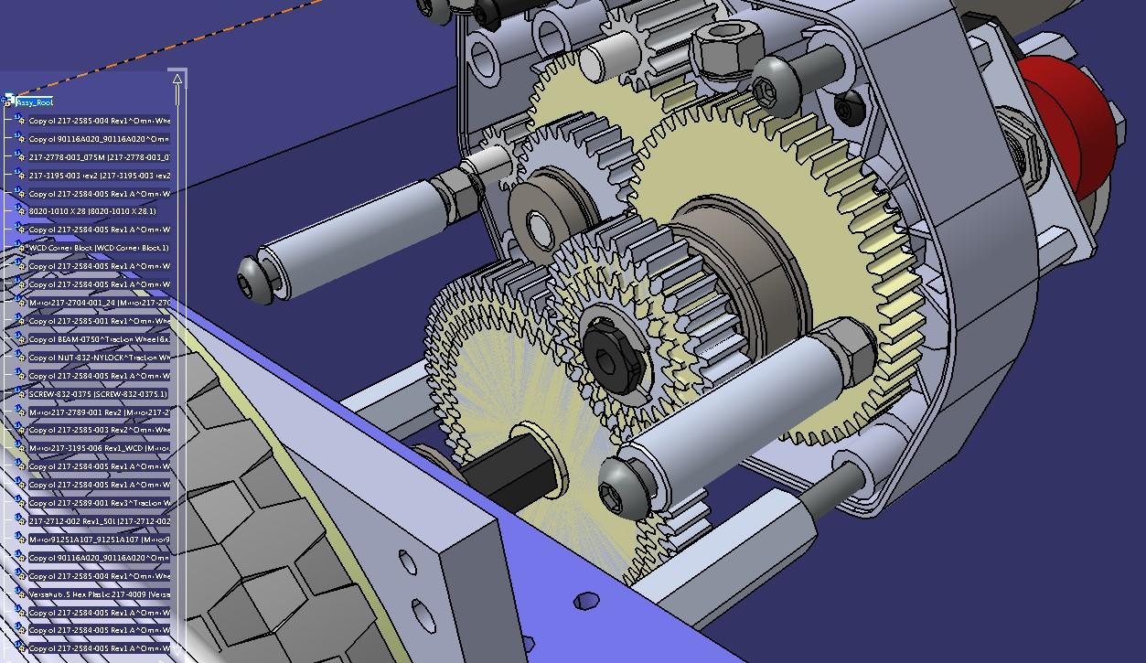 30x30 WCD 8WD机器人车底盘3D图纸 STEP格式