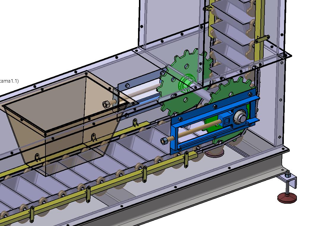 Bucket Conveyor斗式输送机3D数模图纸 STP格式