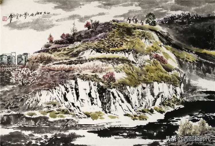 天地大德——陕西大长安国画院院长康平吴起写生作品欣赏