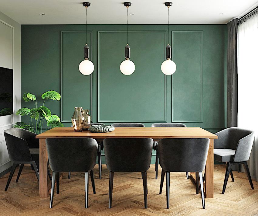 俄罗斯墨绿色复古风小户型公寓