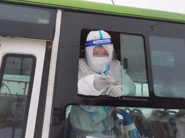 """公主岭:穿抗疫""""白战袍""""志愿者王丽飞的战疫日记"""