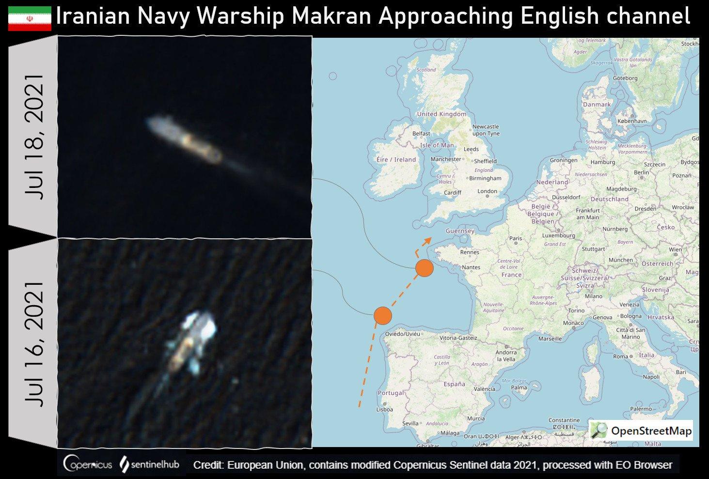 做得好!英国宣布在日本永久驻军,两艘伊朗军舰却杀到英家门口