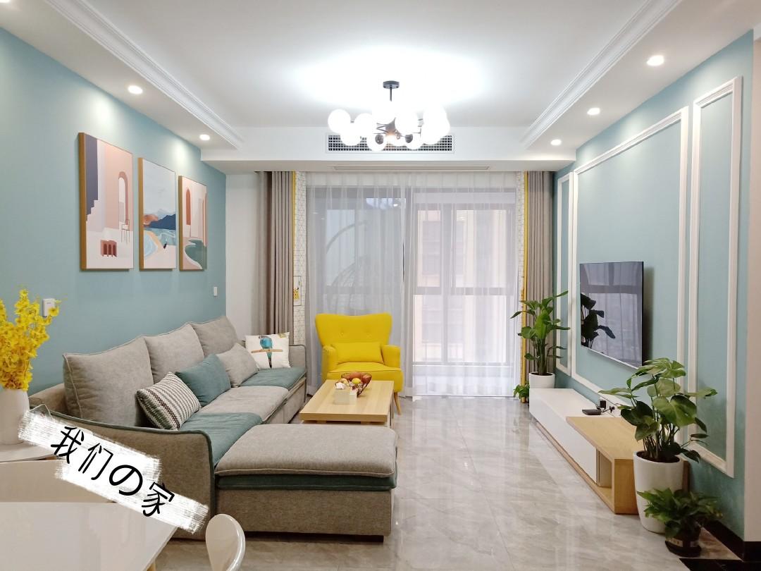 闺蜜好厉害!装修105平的房子不请设计师,装修后的效果很不错