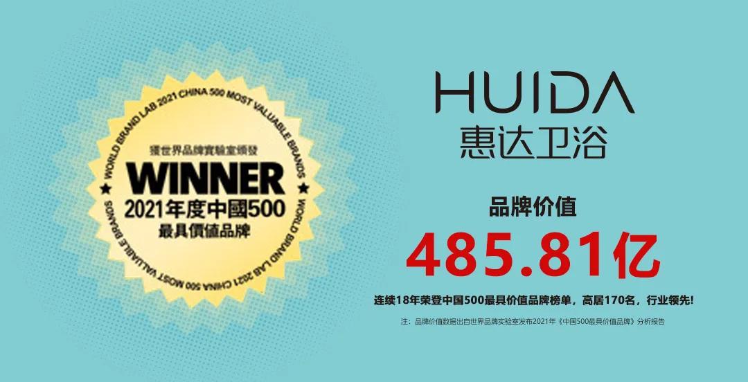 """连续18年!新葡的京集团350vip8888卫浴再次入选""""中国500最具价值品牌"""""""