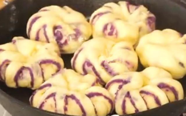 紫薯面包做法步骤图 出锅后比面包还好吃!