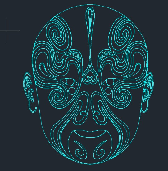 京剧脸谱CAD图纸 dwg格式