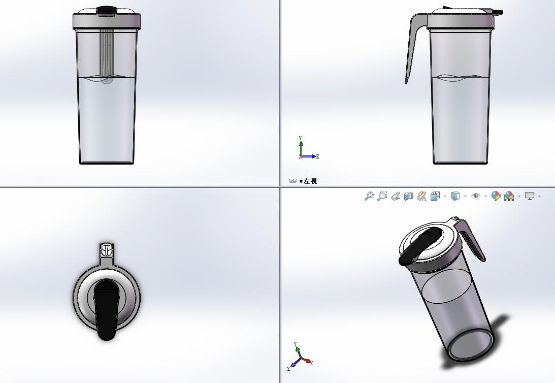 Kumanmon水杯简易模型3D图纸 Solidworks设计 IGS格式