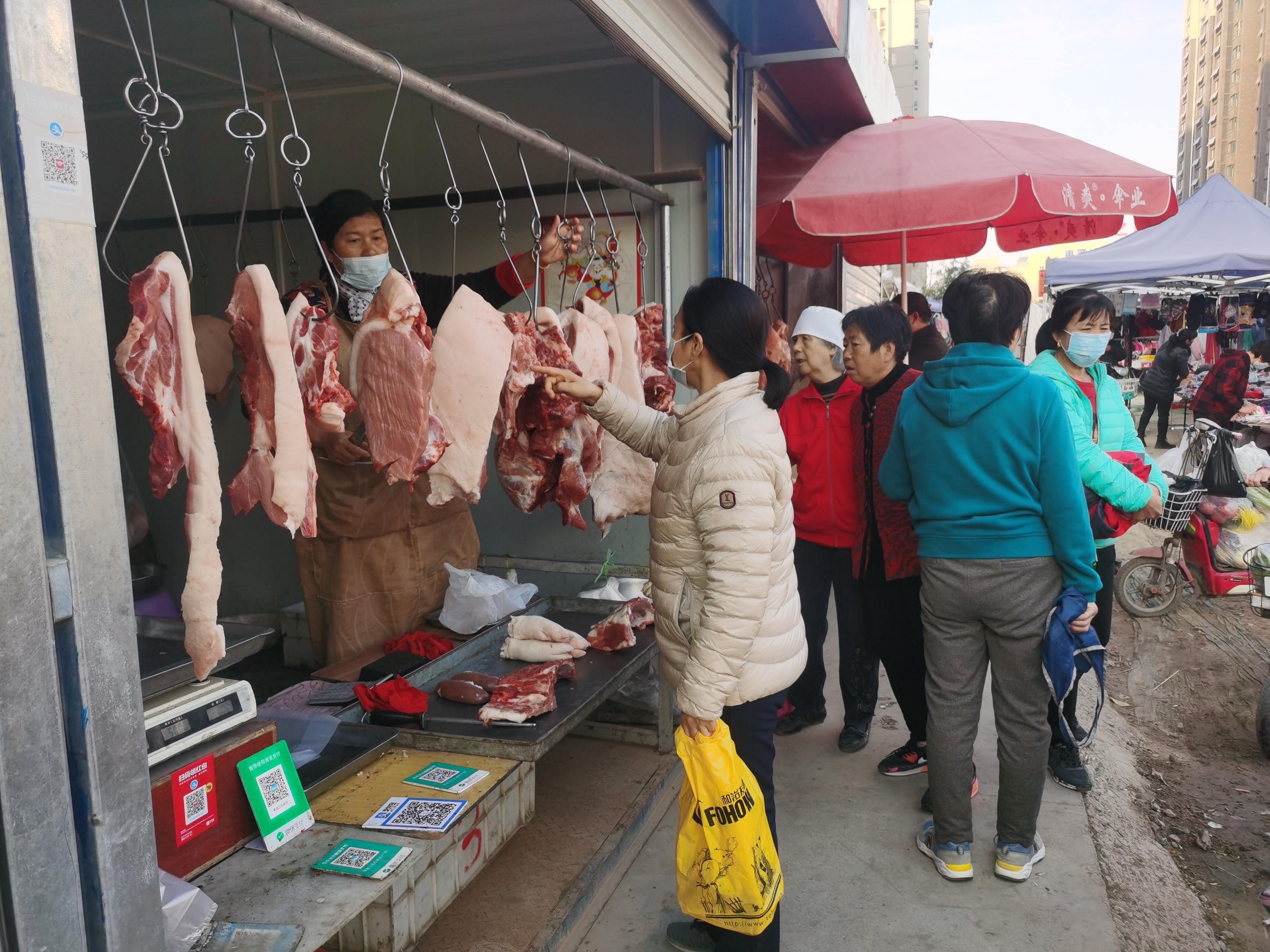 潍坊肉蛋菜齐降价,后肘跌破40元/公斤,预计春节期间可能出现反弹但幅度不大