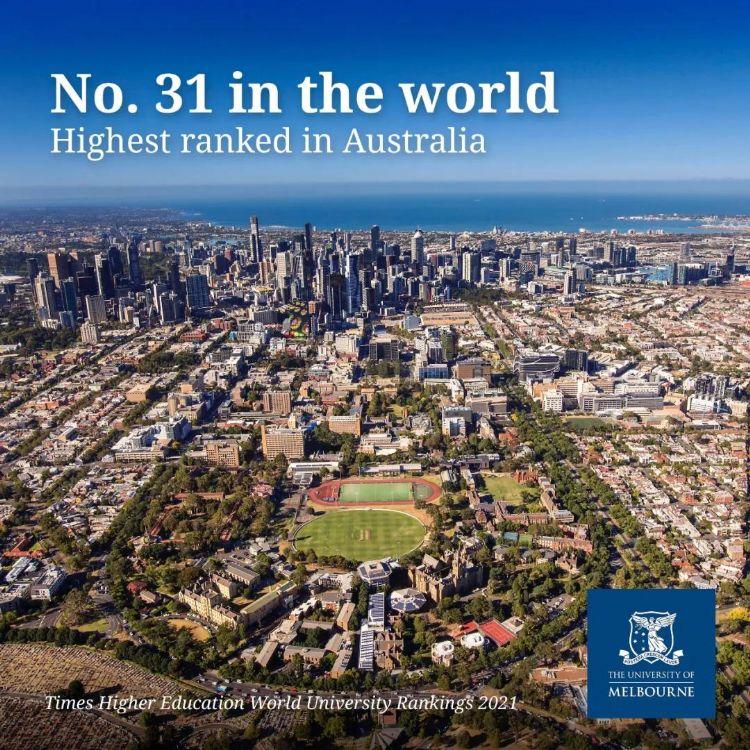 泰晤士高等教育世界大学排名:墨大连续11年排名全澳第一