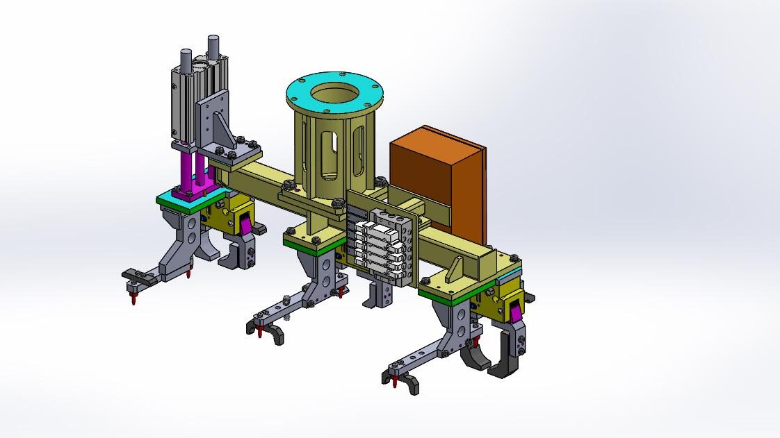 robot gripper schunk机械手机构3D数模图纸 Solidworks设计