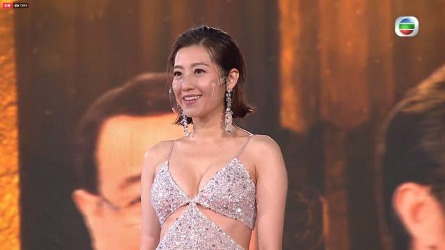 TVB颁奖礼花旦斗艳,汤洛雯发福显壮硕,还有女星胖得肚腩分层