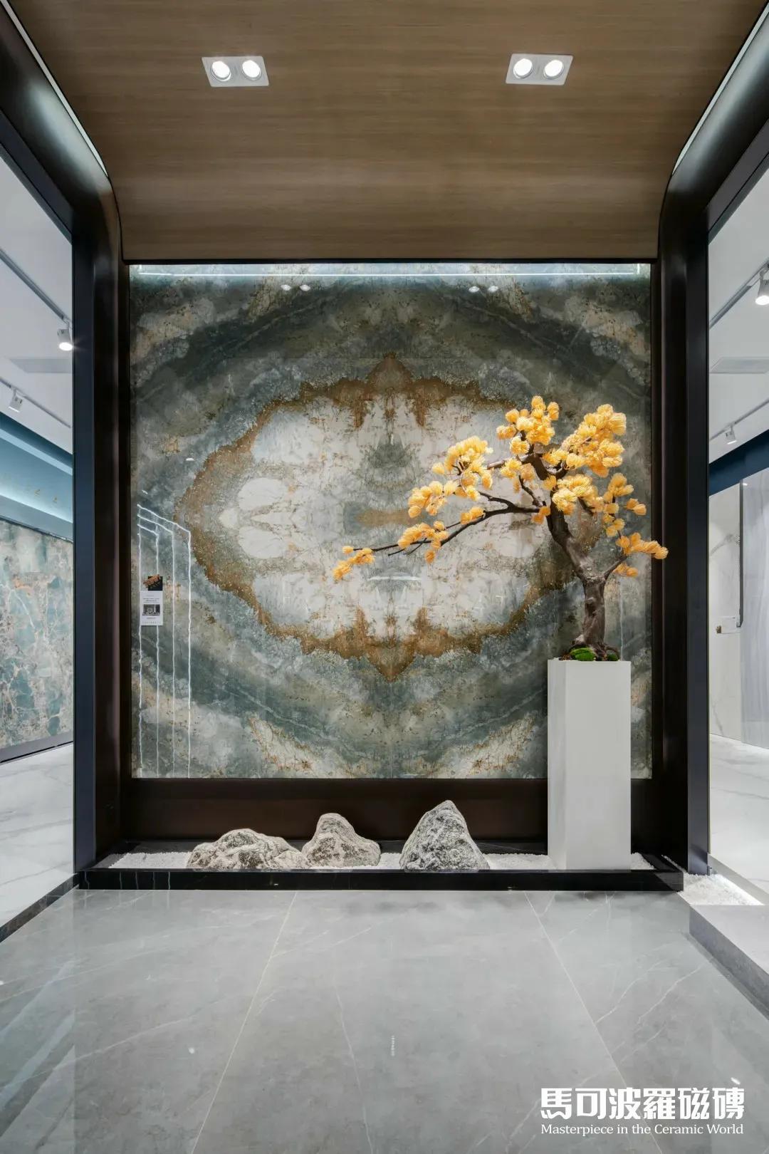 马可波罗瓷砖AI随机无限连纹,一脉相连,大有纹章