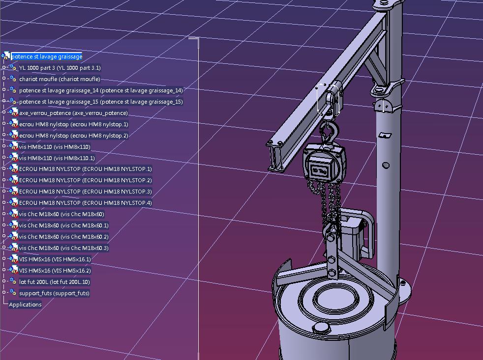 potence起重转臂结构3D图纸 STP IGS格式