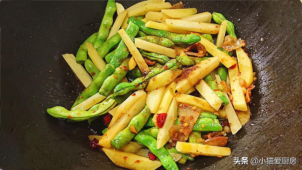 【豆角土豆焖面】做法步骤图 做出来的面条不粘不坨 真香
