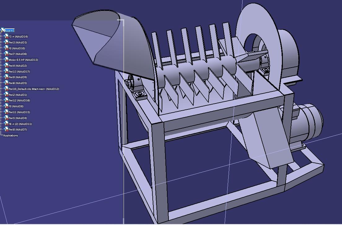 Mesin Pencacah Jerami搅拌机3D数模图纸 STEP格式