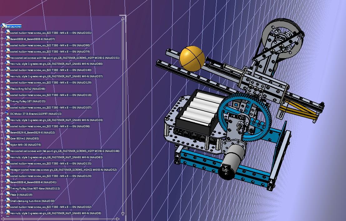 玩具乒乓球发射装置3D数模图纸 STEP格式
