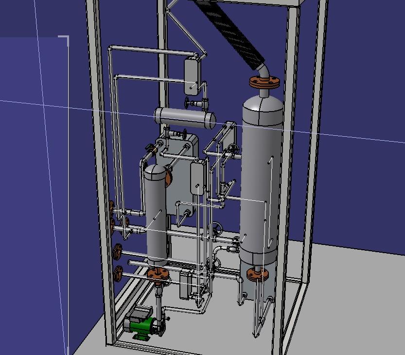 太阳能吸收式制冷机3D数模图纸 STP格式
