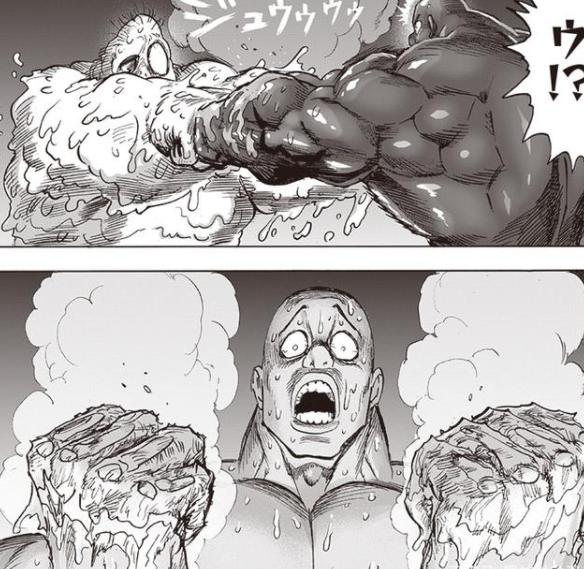 一拳超人191:英雄不死論被打破!黑光內心破防,傑諾斯餓狼高光
