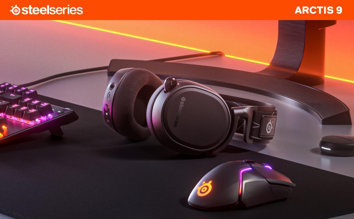 支持PC、PS4和PS5!赛睿发布全新Arctis 9游戏耳机