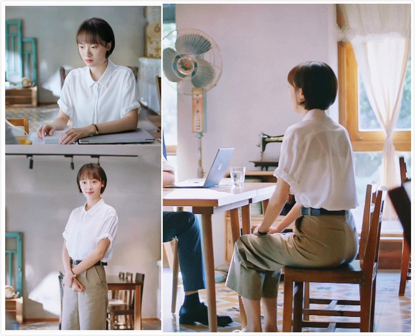 """总被亲妈嫌弃""""不讲究""""的齐明月,她的极简职场穿搭非常值得学习"""