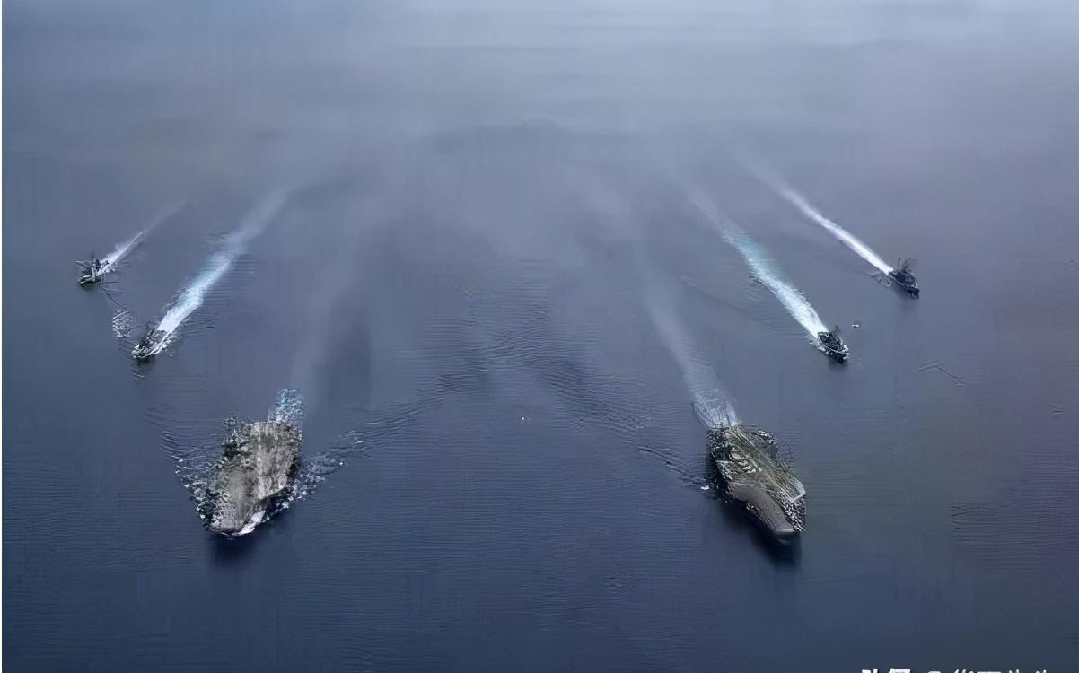 又在南海刷存在感,美日法三国军舰开打秀肌肉,我国双航母加紧开进