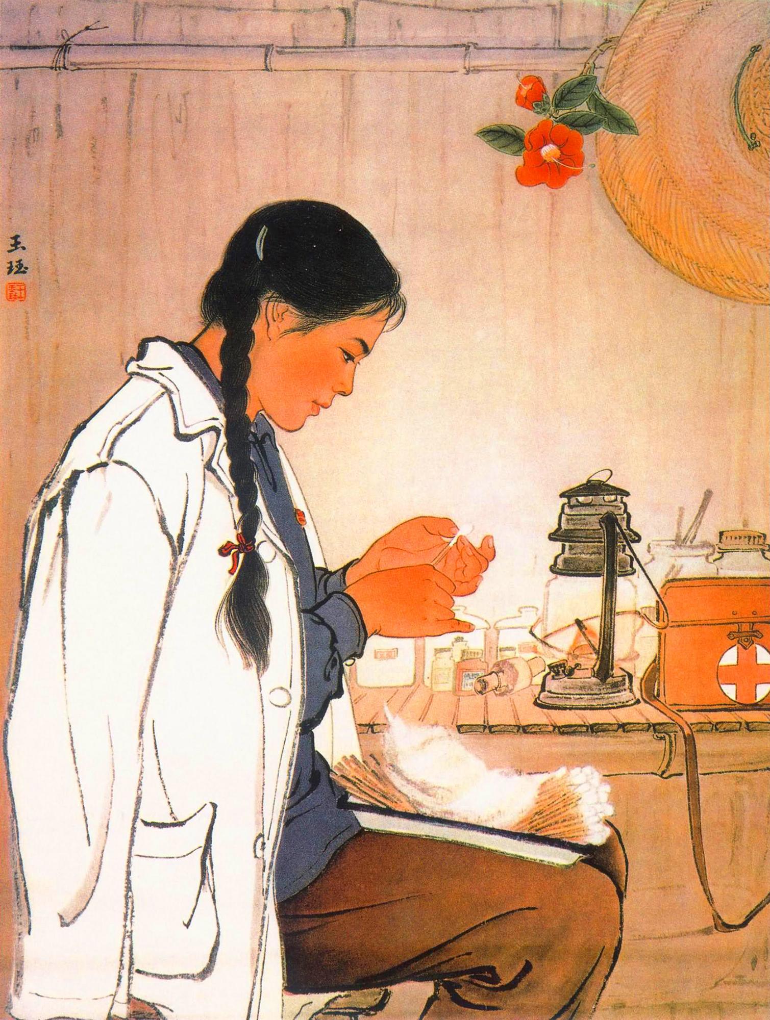 七十年代关于医生的宣传画,张张精品,欢迎收藏